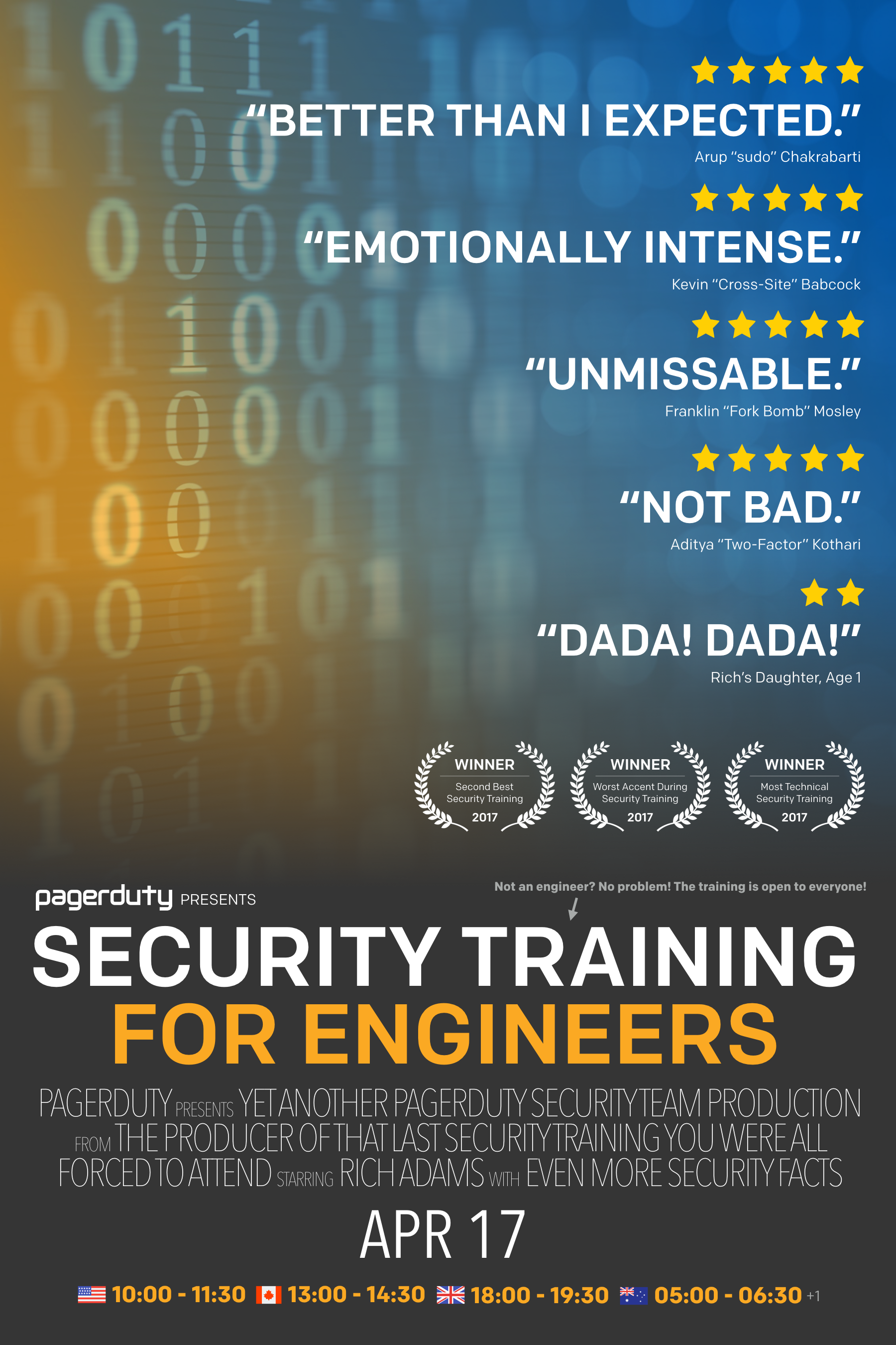 Poster for Security Training for Engineers