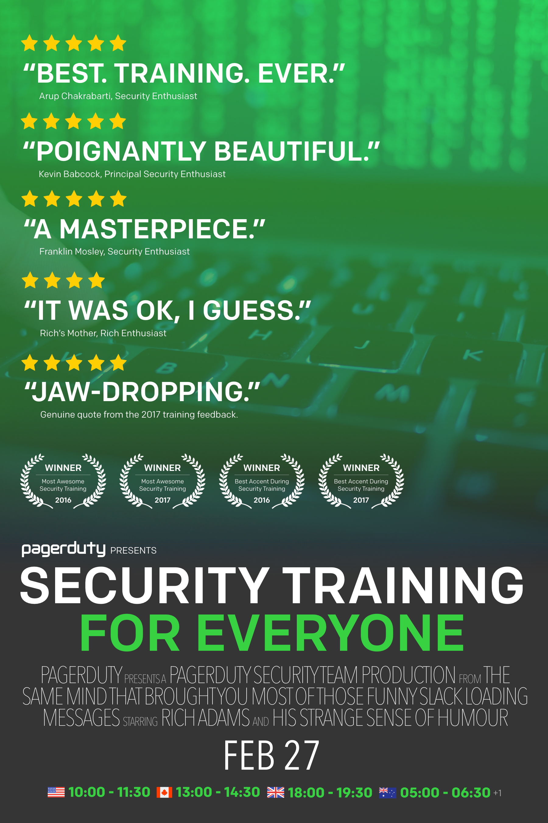 Poster for Security Training for Everyone