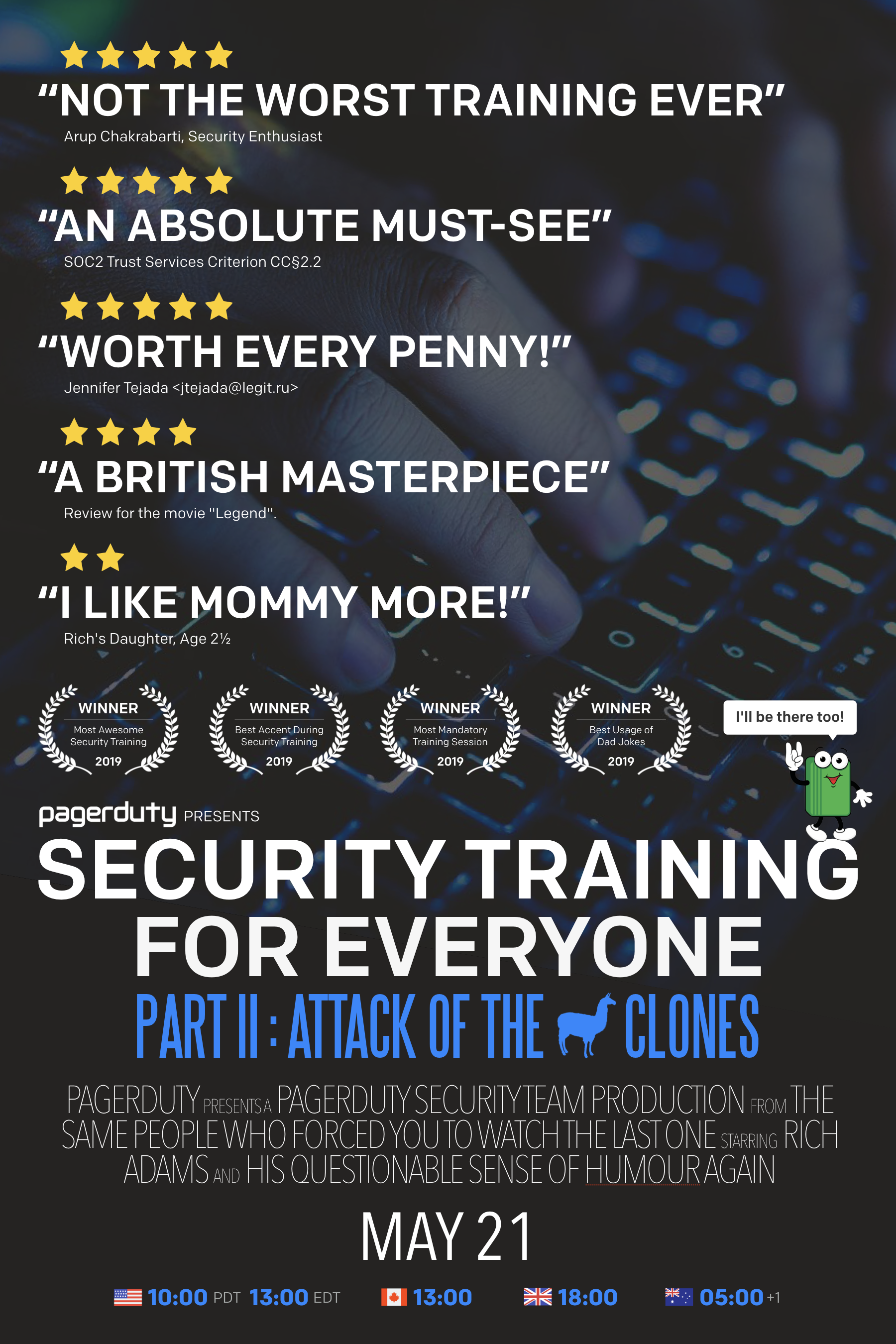 Poster for Security Training for Everyone Part II