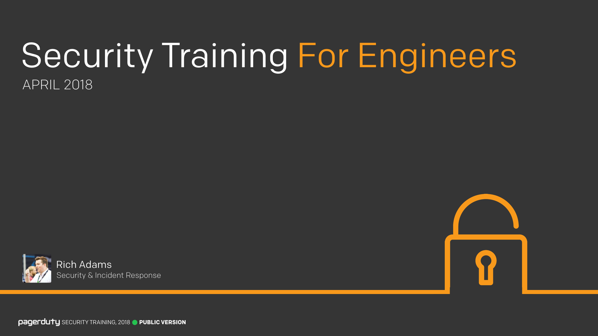 Security Training For Engineers